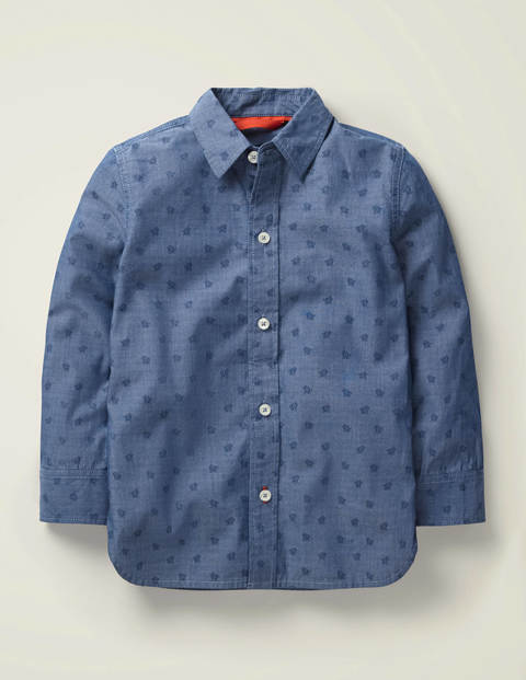 Casual Laundered Shirt - Indigo Turtles