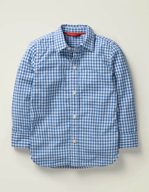 Casual Laundered Shirt - Sky Blue Gingham