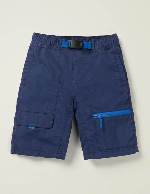 Pull-On Techno Shorts - College Navy