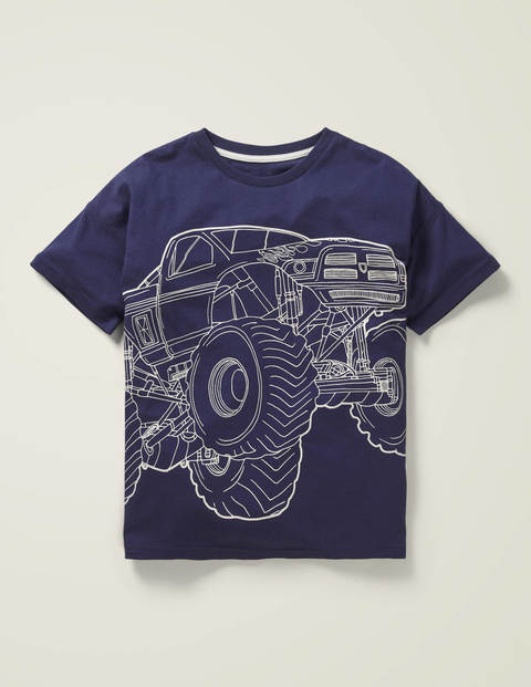 Linear Vehicle T-Shirt - College Navy Monster Truck