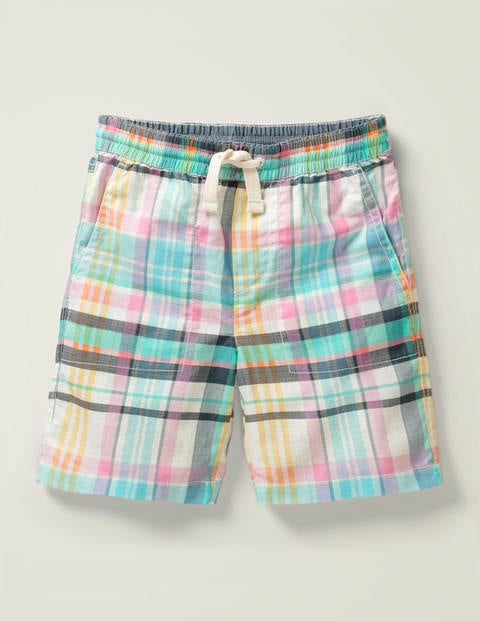 Washed Canvas Pull-on Shorts