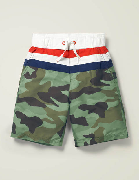 Board Shorts - Herb Green Camouflage
