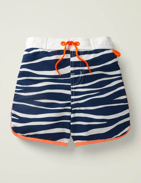 Surf Shorts - College Navy/Ivory Zebra