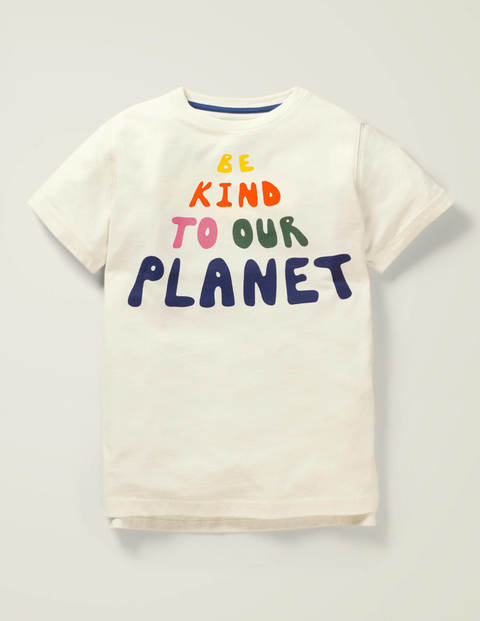 Slogan T-Shirt - Ivory Be Kind To Our Planet