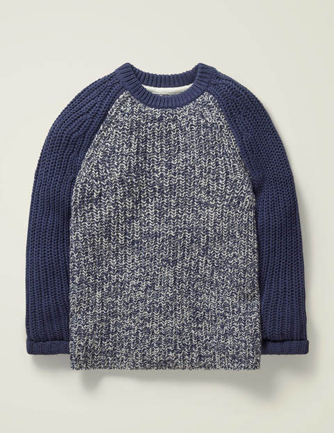 Mariner Crew Jumper - Nautical Navy/Ivory Twist