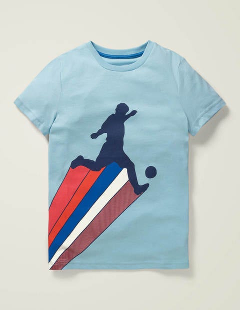 Sports T-shirt - Light Celeste Blue