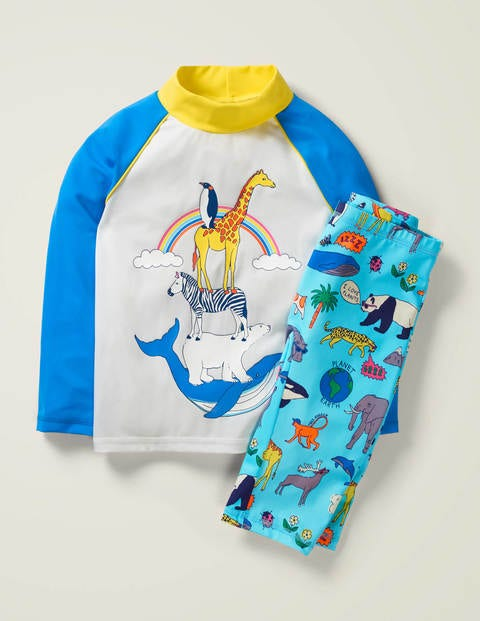 Animal Surf Suit - Light Blue Natural World