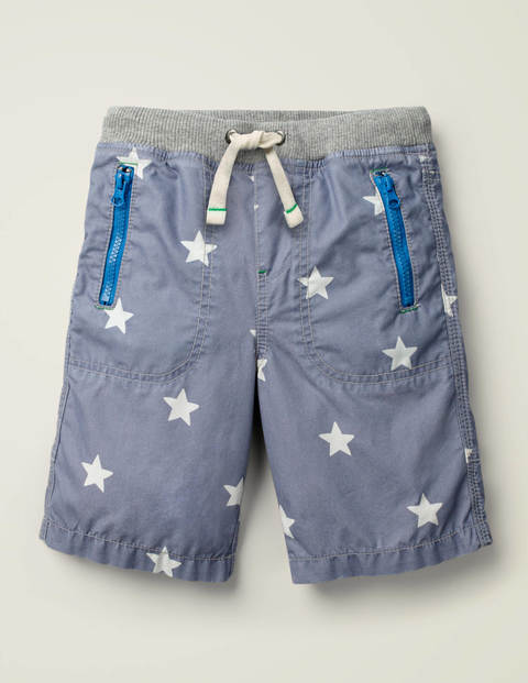 Adventure Shorts - Blue Grey Stars