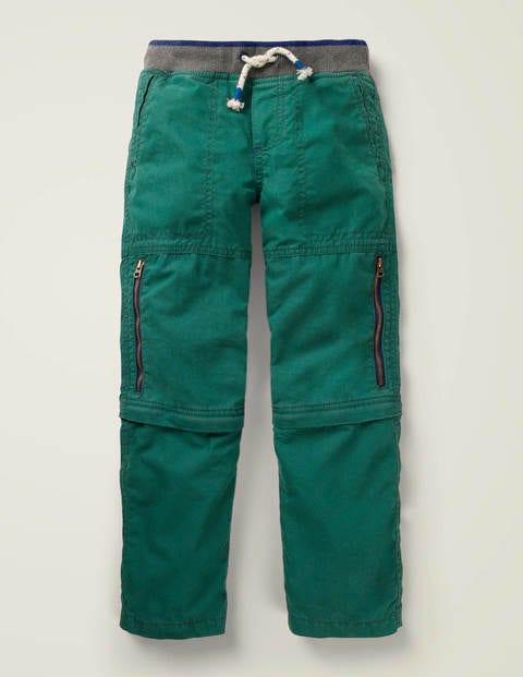 Zip-Off Techno Trousers - Bottle Green
