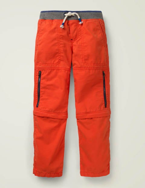 Zip-Off Techno Pants - Orange Sunset