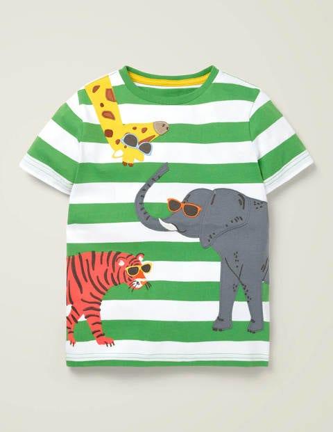 T-Shirt mit freundlichen Tierapplikationen