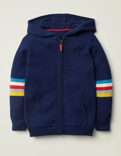 Zip-Through Knitted Hoodie