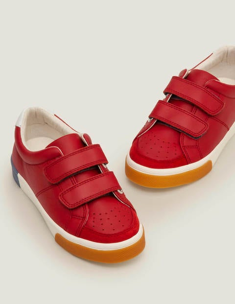 Leather Low Top Sneakers - Cherry Tomato Red
