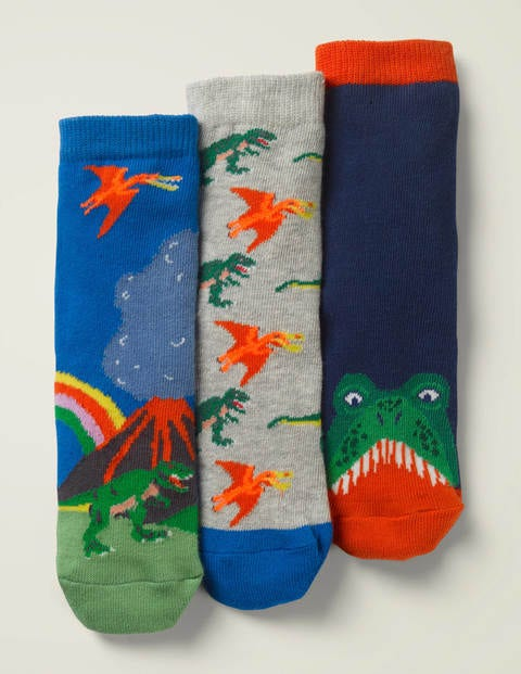 3 Pack Socks - Multi Dinosaurs