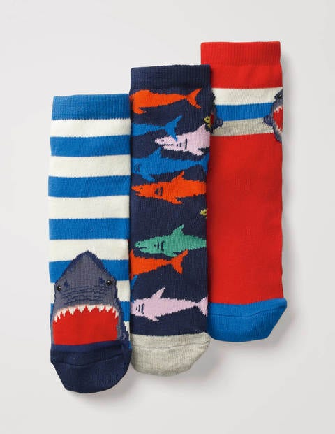 3 Pack Socks - Sharks Multi