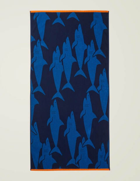 Beach Towel - College Navy Sharks