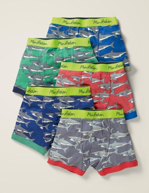 5 Pack Boxers - Sharks