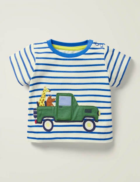 Vehicle Adventures T-Shirt - White/Elizabethan Blue Truck
