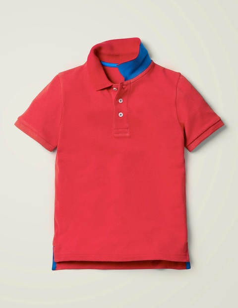 Piqué Polo Shirt - Cherry Tomato Red