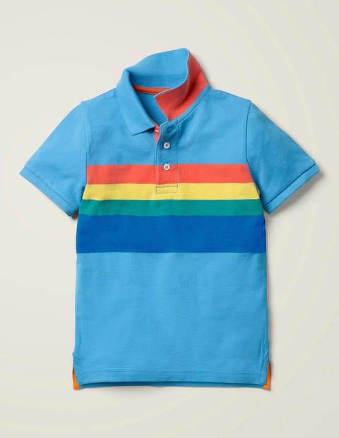 Piqué Polo Shirt - Surfboard Blue/Multi