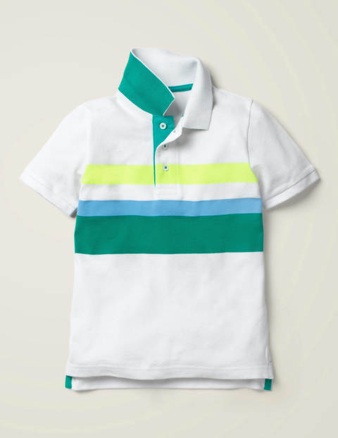 Piqué Polo Shirt - White/Multi