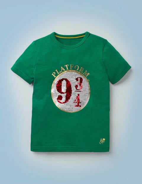 Platform 9¾ Sequin T-Shirt - Mountain Meadow Green