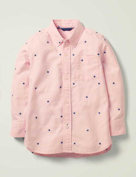 Oxford Shirt - Boto Pink/College Navy Star