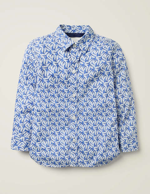 Casual Laundered Shirt - Sky Blue Swish
