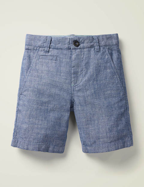 Chino Shorts - Mid Blue Chambray