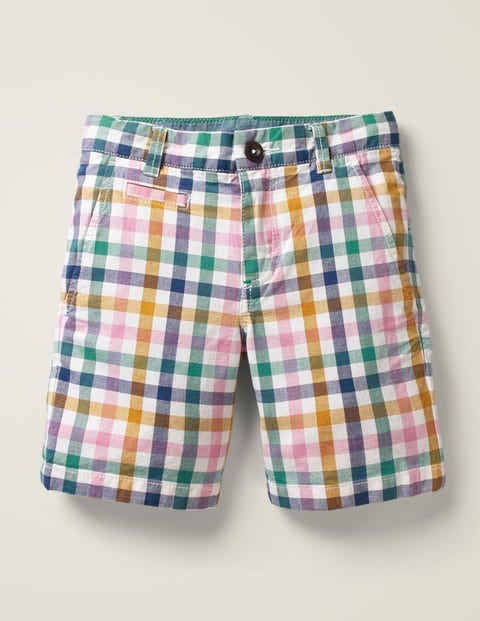 Chino Shorts - Pink/Yellow Gingham