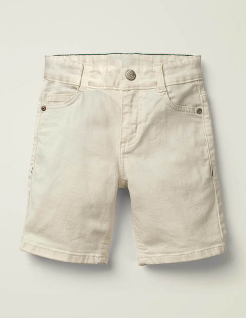 Denim-Shorts - Creme