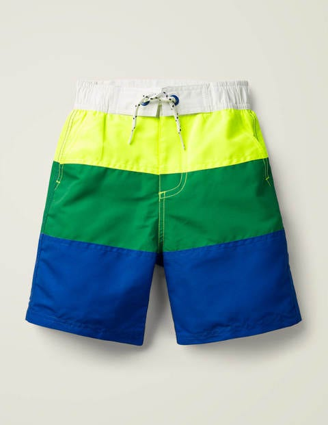Board Shorts - Cornflower Blue/Yellow