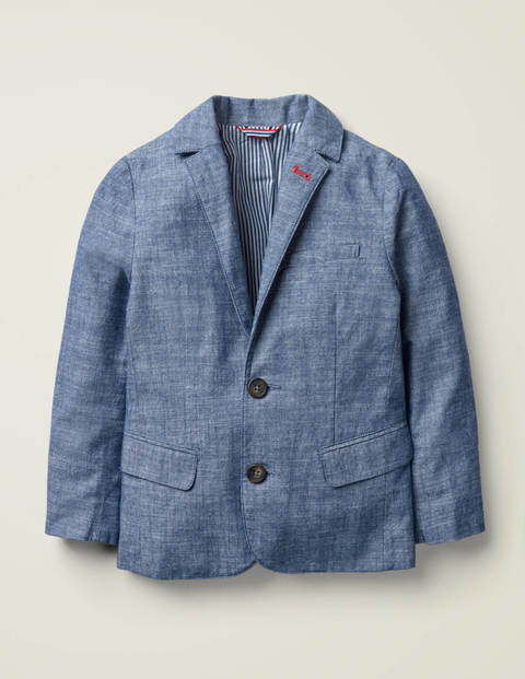 Smart Blazer - Mid Blue Chambray