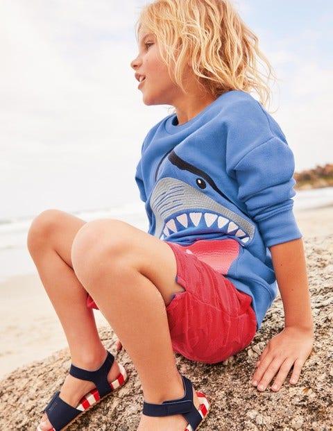 Animal Superstitch Sweatshirt - Sky Blue Shark