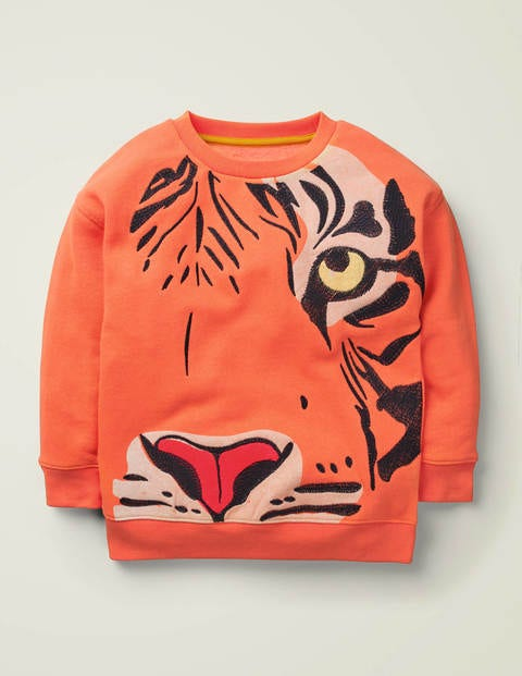 Superstitch-Sweatshirt mit Tiermotiv