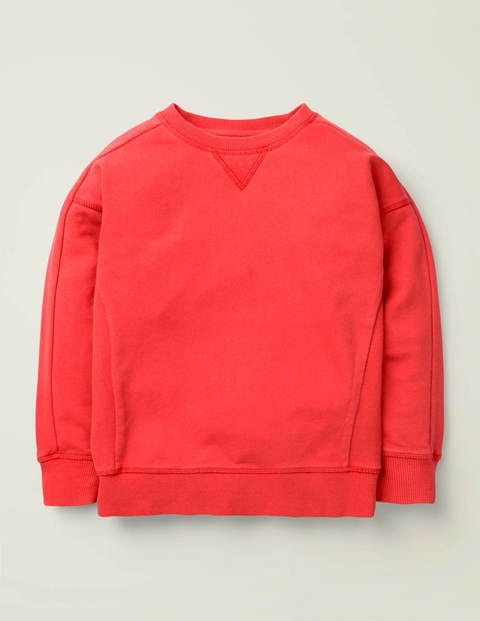 Garment-Dyed Sweatshirt - Cherry Tomato Red