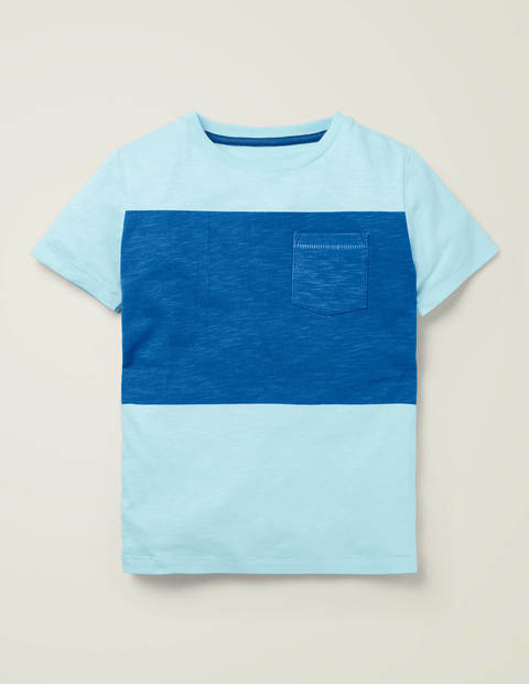 Colourblock T-Shirt - Sea Glass Blue