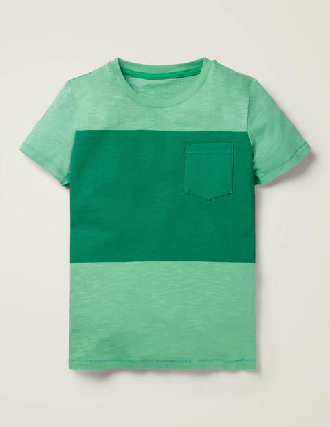T-Shirt Mit Blockfarben - Brunnengrün
