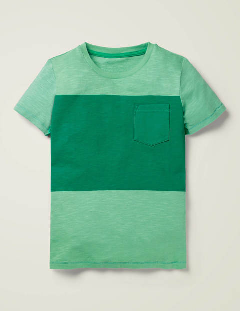 Colourblock T-Shirt - Fountain Green