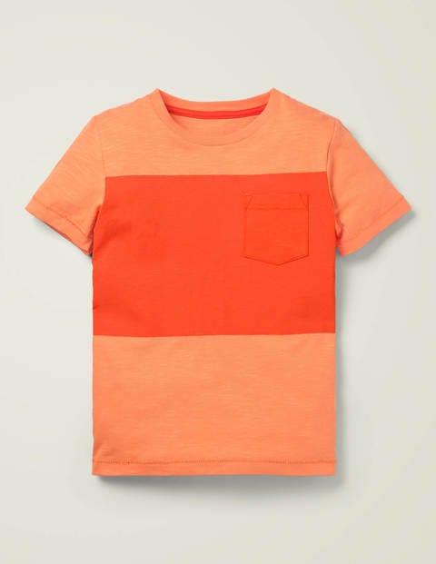 T-Shirt Mit Blockfarben - Papayaorange