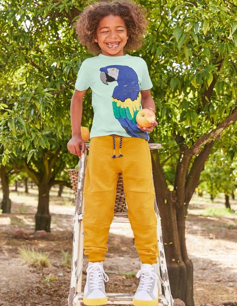 Bright Animal Textured T-shirt - Fresh Water Blue Parrot