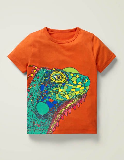 Bright Animal Textured T-shirt