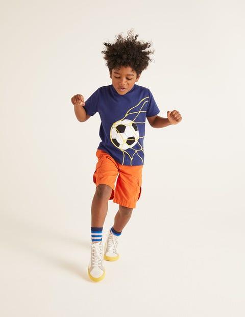 Sports Appliqué T-shirt - Indigo Navy Football
