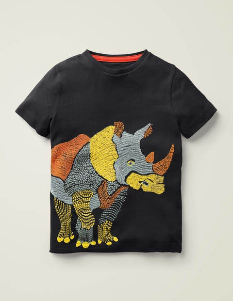 T-shirt animal à surpiqûres
