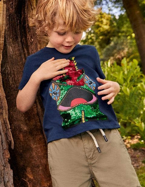 T-Shirt mit farbwechselnden Pailletten