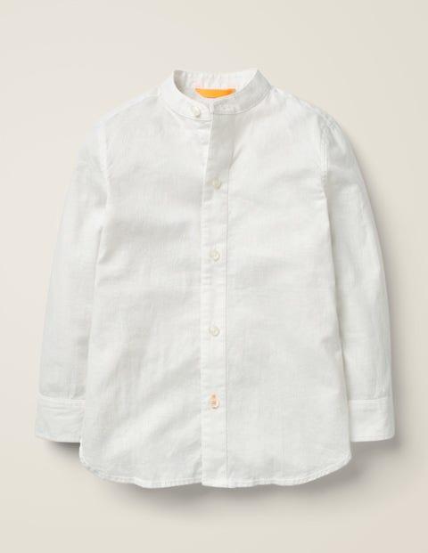 Grandad Collar Shirt - White