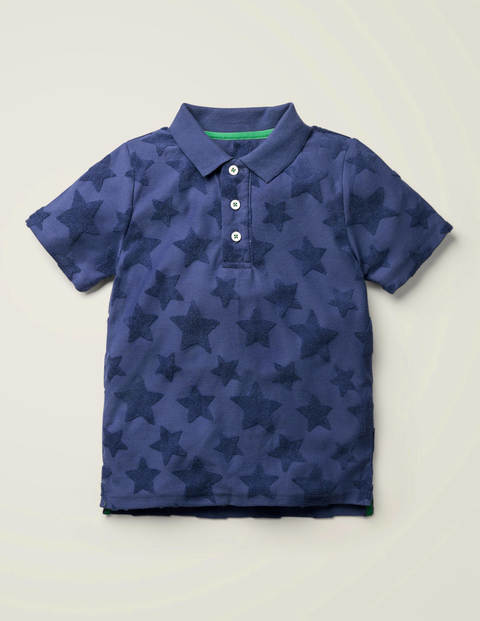 Textured Polo Shirt - Starboard Blue Stars