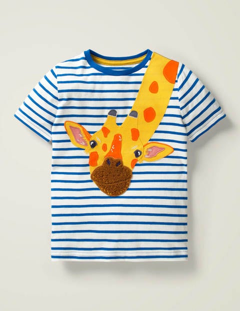 T-shirt à appliqué animal sauvage