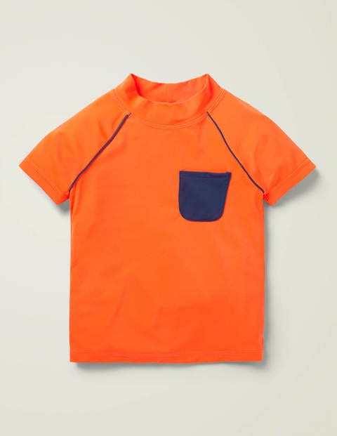 Short-sleeved Rash Vest - Neon Orange