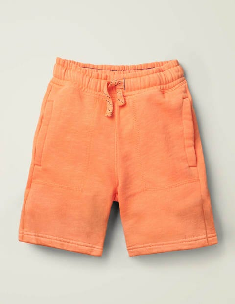 Garment-Dyed Sweatshorts - Tangerine Orange